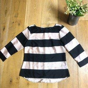 The Limited light pink and black striped blouse